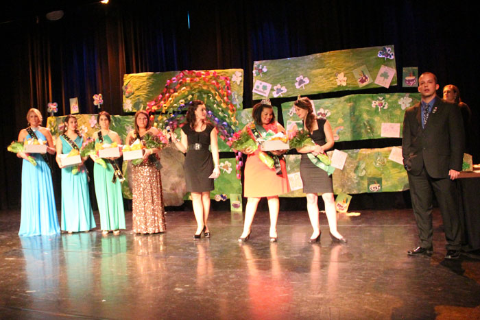 St Patrick's Day Queen and Court on the Lawrence Arts Center Stage