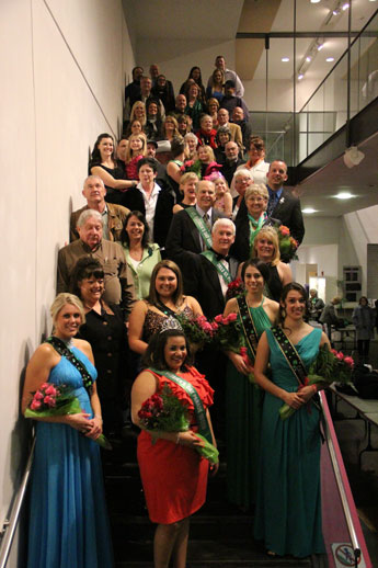 The Court and Parade Committee on the Lawrence Arts Center stairs